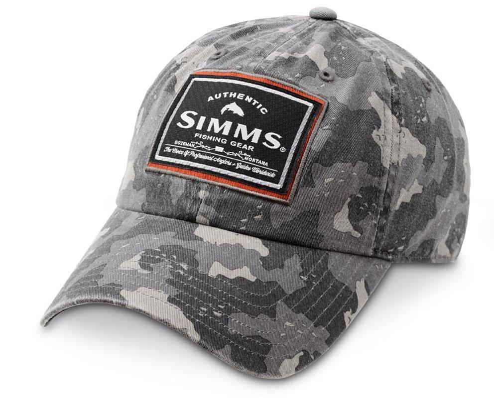Simms Single Haul Cap, Camo Grau