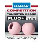 Hanak Fluo+ Tungsten Beads Perlen, light pink