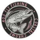 AOS Fly Fishing Sticker - Coastal Chrome Meerforelle, Fliegenfischen