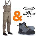 Vision Atom Wading Kit (Waders + Wading Boots)