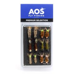 Fly Selection Cased Caddis Nymphs for Grayling & Trout