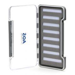 AOS Slim Microslot Fliegenbox #L, 8 Reihen