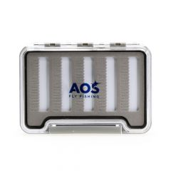 AOS Slim Microslot Fliegenbox #M, 5 Reihen