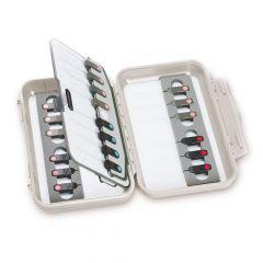 C&F Medium Super Threader Case Fliegenbox mit Einfädlern (CF-2500-THR), off-white