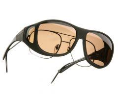 amber lenses / black frame