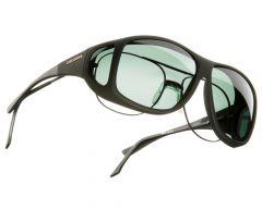 gray lenses / black frame