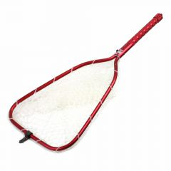 Rising Brookie Alu Rubber Net Kescher, rot, Fliegenfischen