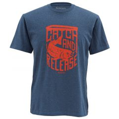 Simms Catch and Release T-Shirt, navy blue