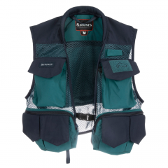 Simms Tributary Fly Vest, deep sea green