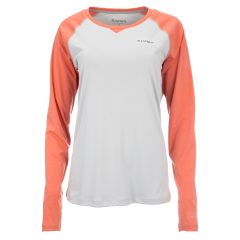 Simms Donna Solarflex Crewneck Shirt, salmon heather