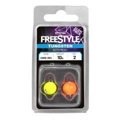 FreeStyle Tungsten Bottom Jigs, Orange / Chartreuse