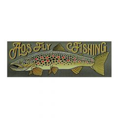 AOS Fly Fishing Sticker - AOS Brown Trout, Bachofelle, Fliegenfischen