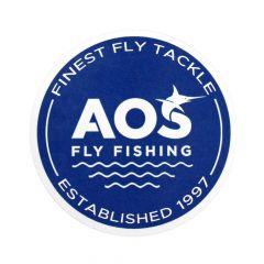 AOS Fly Fishing Sticker - AOS EST 1997, Fliegenfischen