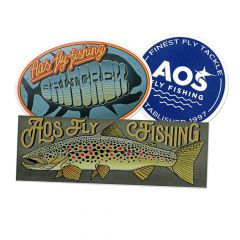 AOS Fly Fishing Sticker, 3 Stk.