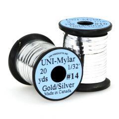 UNI Mylar Flat Tinsel, gold / silber