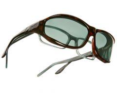 gray lenses / tortoise frame