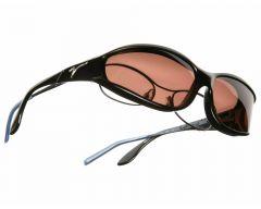 copper lenses / black frame