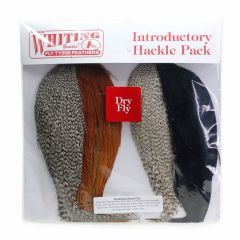 Whiting Introductory Hackle Pack, grizzly/brown/cree/black