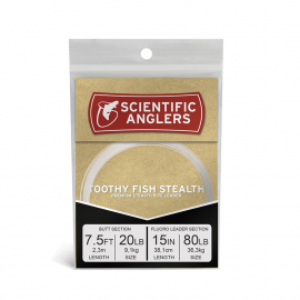 1=Scientific Anglers Leaders FLUOROCARBON   9FT      12LB Fresh or Saltwater