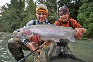 Skeena River, Fliegenfischen auf Steelhead und Lachs