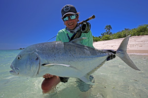 Cosmoledo Atoll, Seychellen. Das Paradies für das Fliegenfischen auf Giant Trevally