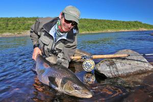 Yokanga River- Fliegenfischen auf Atlanik Lachs
