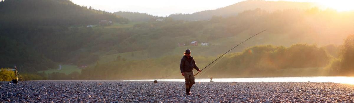 Fliegenfischen an der Gaula in Norwegen