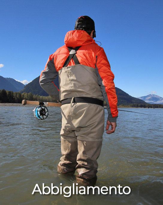 Abbigliamento per la pesca a mosca